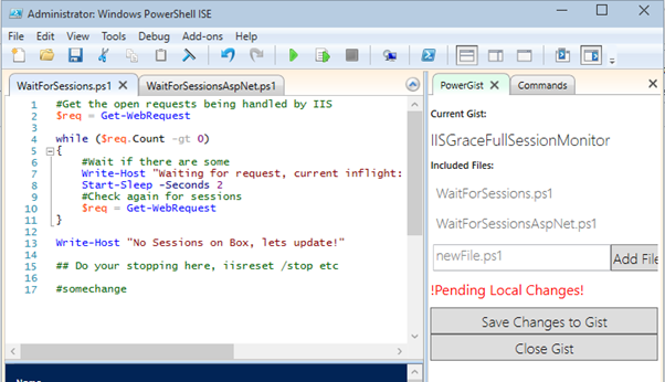 PowerGist – Source Control for Powershell ISE with Github